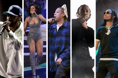 Big Sean, Cardi B, JAY-Z, Kendrick Lamar, Offset (of Migos)