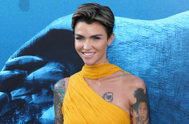 Ruby Rose at Warner Bros. Pictures Los Angeles Premiere Of 'The Meg' held at TLC Chinese Theatre on August 06, 2018 in Hollywood, CA, USA
