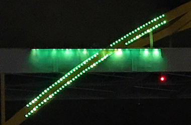 hoan bridge demonstration lighting