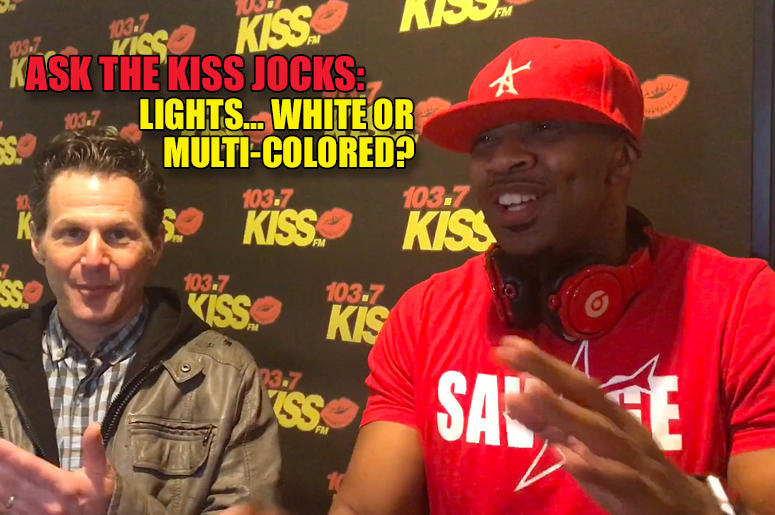 White or multi-colored lights?