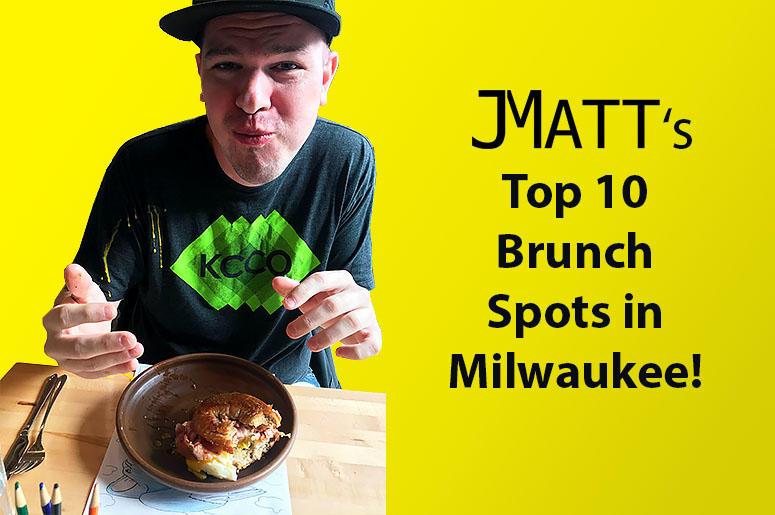 JMatt with egg yolk on his shirt