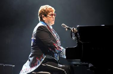 Elton John performs during his 'Farewell Yellow Brick Road tour'