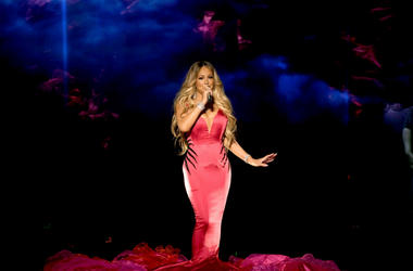 Mariah Carey performs onstage during the 2018 American Music Awards