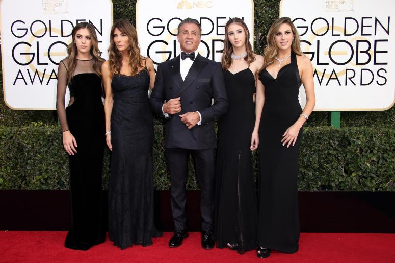 Sylvester Stallone's Daughters Steal Celebrity Phone Numbers From