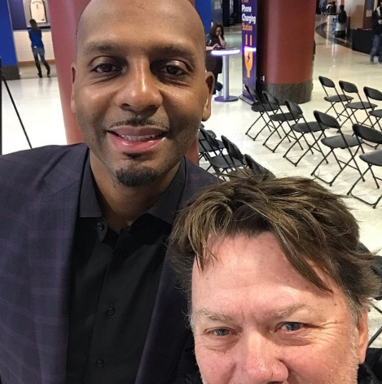 Penny Hardaway and Ron Olson at Soup Sunday 2019