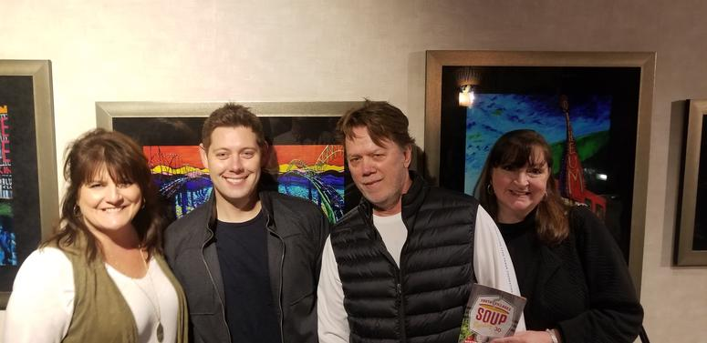 Cindy D., Marty Brooks from The Wolf, Ron Olson and Karen Perrin from The River at Soup Sunday
