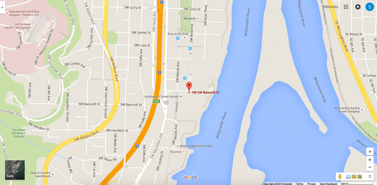 Google map Entercom Portland