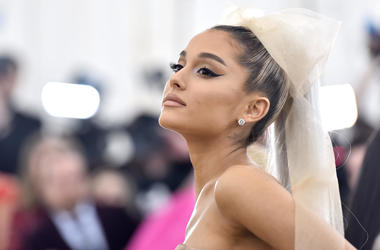 Ariana Grande walking the red carpet at The Metropolitan Museum of Art