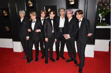 V, Suga, Jin, Jungkook, RM, Jimin, J-Hope, BTS. 61st Annual GRAMMY Awards held at Staples Center