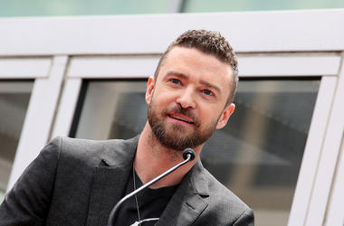 Justin Timberlake.NSYNC Honored With Star On The Hollywood Walk Of Fame