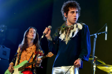 Josh Kiszka of Greta Van Fleet perform onstage