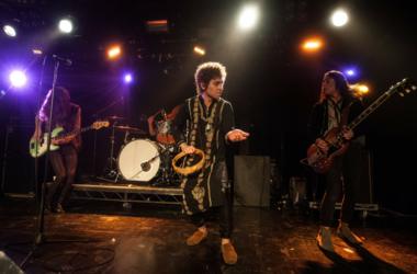 Vocalist Josh Kiszka, guitarist Jake Kiszka, bassist Sam Kiszka and drummer Danny Wagner of Greta Van Fleet