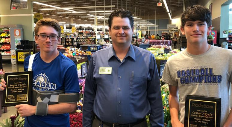 Conley and Keagan with Dave Peglow- Cold Spring Pick'n Save