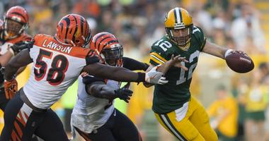 Rodgers a sitting duck for rushers?