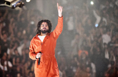 J. Cole performs at Barclays Center of Brooklyn on August 1, 2017 in the Brooklyn borough of New York City.