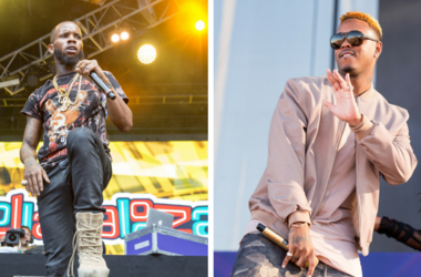 Jeremih (Jeremy Felton) at iHeartRadio Daytime Village on September 24, 2016, in Las Vegas, Nevada. / Rapper Tory Lanez (Daystar Peterson) at Grant Park during Lollapalooza Music Festival on July 30, 2016, in Chicago, Illinois.