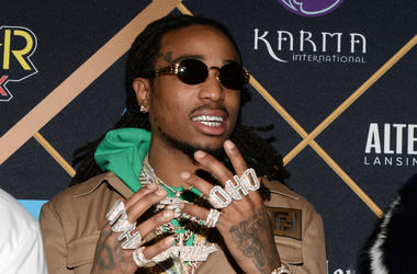 Quavo of Migos walking on the red carpet at the The 2018 MAXIM Party held at Schaffer-Richardson Building on February 3, 2018 in Minneapolis, Minnesota.