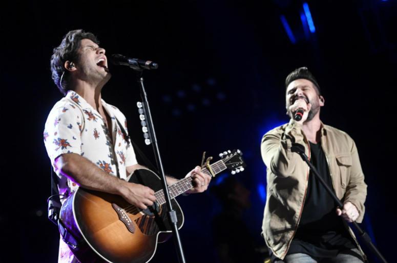 June 7 2018; Nashville, TN, USA; Dan + Shay performs during the 2018 CMA Music Festival.