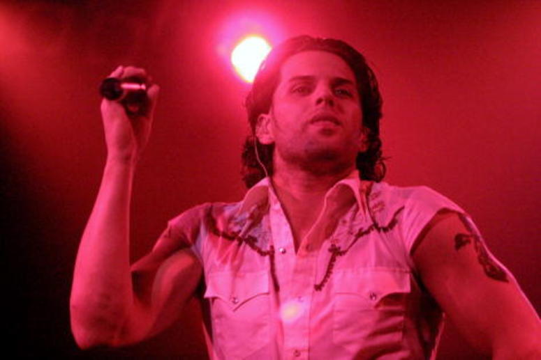 Devin Lima of LFO performing at the Z100 School Spirit Concert at the Vanderbilt Theater in Long Island, New York on October 12, 2001.
