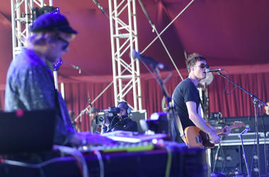 Jimmy Vallance (L) and Tom Howie of Bob Moses perform at the 2016 Coachella Valley Music & Arts Festival