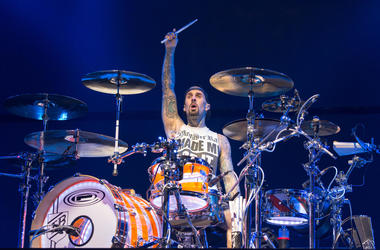 Travis Barker of Blink-182 during KROQ Almost Acoustic Christmas