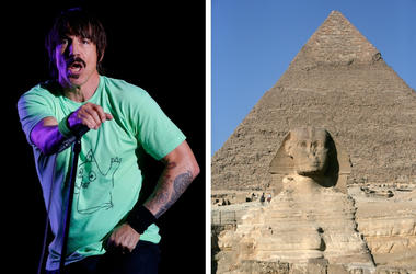 Anthony Kiedis and the Giza pyramid complex