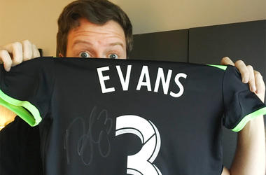 Brad Evans signed a jersey for us!