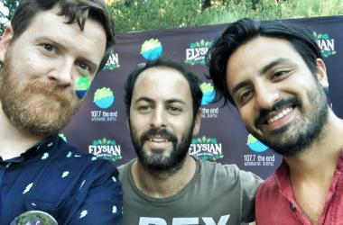 Gregr with Eric + Sameer of Young the Giant