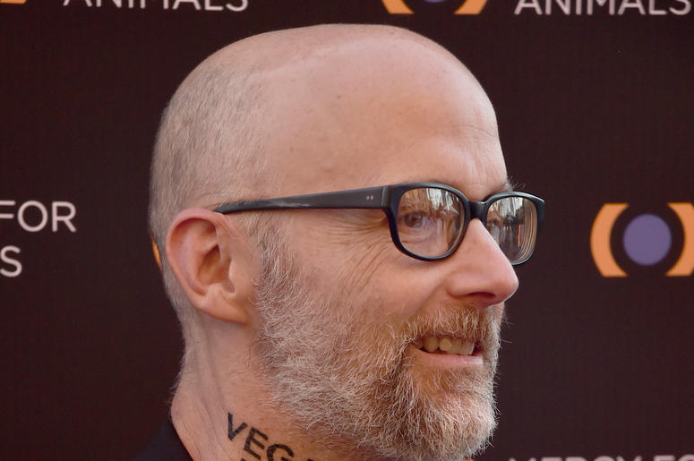 Moby and his new neck tattoo