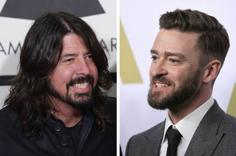 Dave Grohl and Justin Timberlake