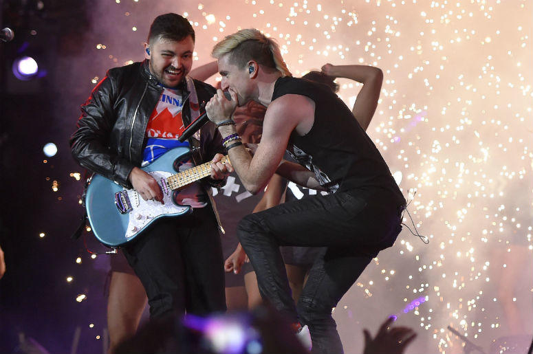 WATCH: Walk The Moon & Dashboard Confessional Perform Late