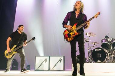Robert Trujillo and Kirk Hammett of Metallica