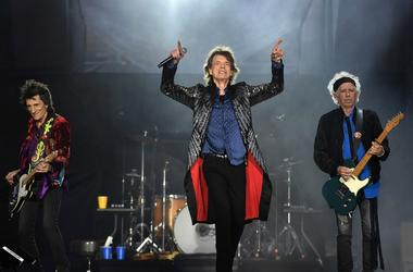The Rolling Stones perform live on stage on the opening night of the european leg of their No Filter tour