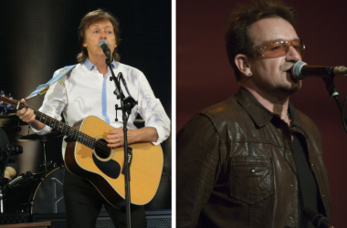 Paul McCartney and Bono