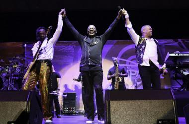Earth, Wind & Fire performs at the Riptide Music Festival.