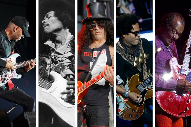 Tom Morello, Jimi Hendrix, Slash, Lenny Kravitz, Chuck Berry