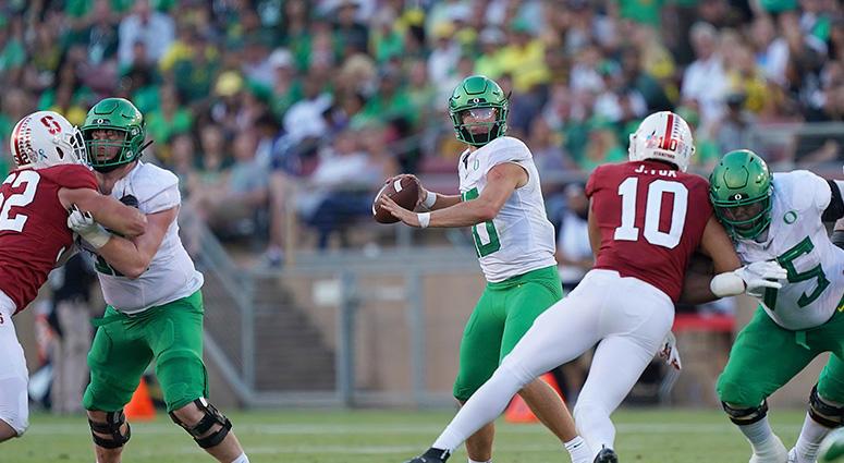 Herbert's 3 TD passes lead No. 16 Oregon past Stanford 21-6
