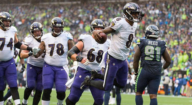 Jackson's legs, Ravens defense roll past Seahawks 30-16