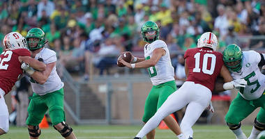 Herbert's 3 TD passes lead No. 16 Oregon past Stanford 21-6