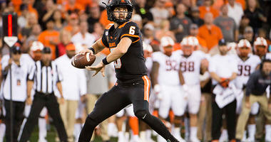 Luton Leads Oregon State Past Cal Poly 45-7