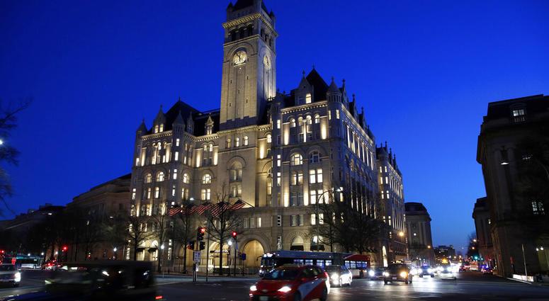 FILE - This Jan. 30, 2018, file photo shows the Trump International Hotel in Washington. (AP Photo/Alex Brandon, File)