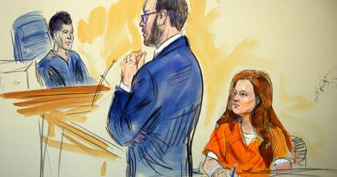 This courtroom sketch depicts Maria Butina, a 29-year-old gun-rights activist suspected of being a covert Russian agent.(Dana Verkouteren via AP)