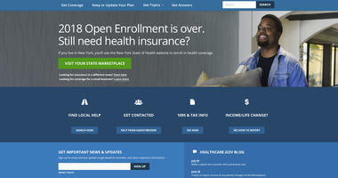 "The HealthCare.gov website main page. The Trump administration is clearing the way for insurers to sell short-term health plans as a bargain alternative to pricey ""Obamacare"" for consumers struggling with high premiums. (HHS via AP)"