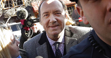 Actor Kevin Spacey arrives at district court on Monday, Jan. 7, 2019, in Nantucket, Mass., to be arraigned on a charge of indecent assault and battery. (AP Photo/Steven Senne)