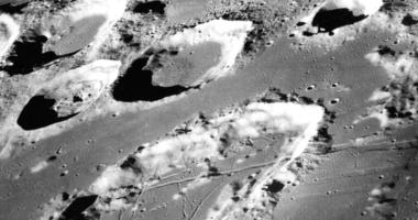 FILE - This Dec. 29, 1968 photo made available by NASA shows the large moon crater Goclenius, foreground. (NASA via AP, File)