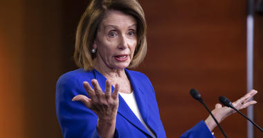 Speaker of the House Nancy Pelosi, D-Calif., talks to reporters. (AP Photo/J. Scott Applewhite)