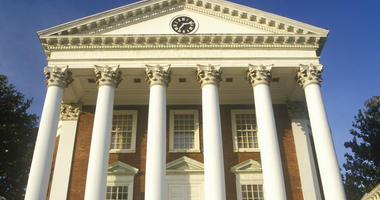 Columns on building at University of Virginia inspired by Thomas Jefferson, Charlottesville, VA. (Dreamstime)