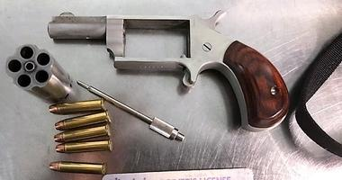 This handgun was detected by TSA officers in a passenger's carry-on bag at Richmond International Airport on Monday. (TSA photo)