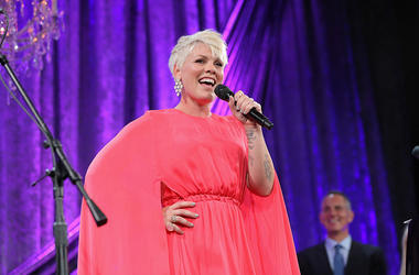 Honoree P!nk performs onstage during the 63rd Annual BMI Pop Awards held at the Regent Beverly Wilshire Hotel on May 12, 2015 in Beverly Hills, California