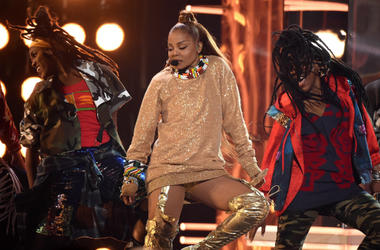 LAS VEGAS, NV - MAY 20: Janet Jackson performs on the 2018 Billboard Music Awards at MGM Grand Garden Arena on May 20, 2018 in Las Vegas, Nevada.